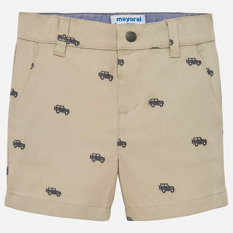 MAYORAL BABY BOY PATTERN CHINO SHORTS-FINAL SALE