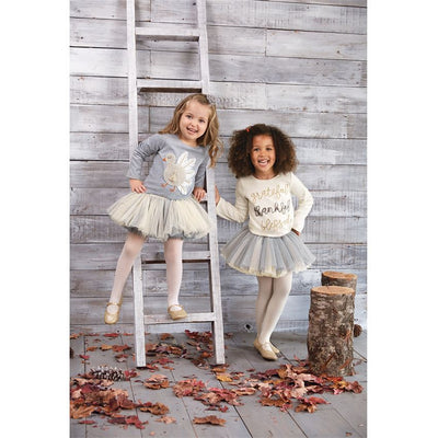 Mud Pie, MUD PIE GIRLS THANKSGIVING DAZZLE TEE - James & Olive