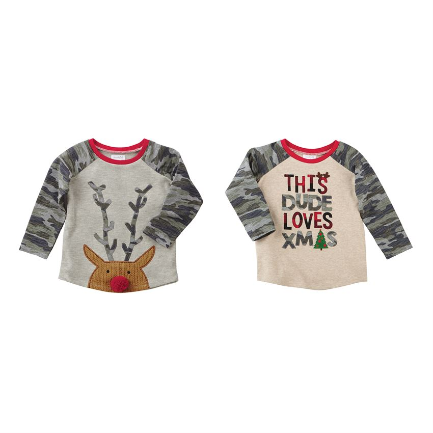 MUD PIE BOYS CHRISTMAS CAMO TEES