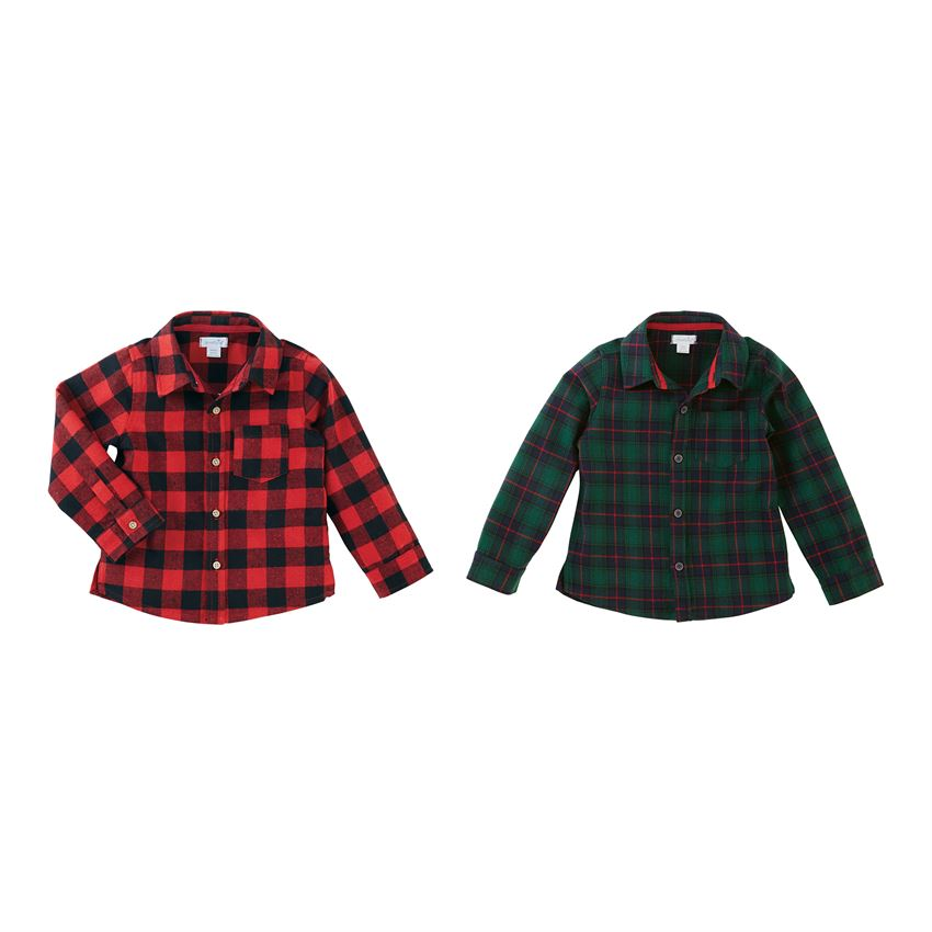 MUD PIE BOYS ALPINE BUTTON DOWN SHIRT