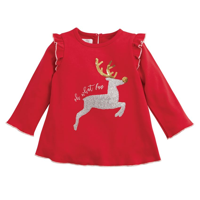 MUD PIE GIRLS CHRISTMAS DAZZLE TUNIC