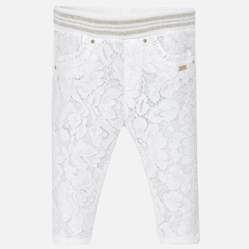 MAYORAL BABY GIRLS LACE LEGGINGS
