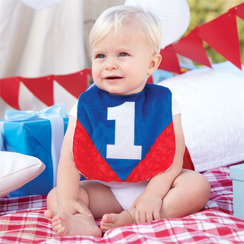 "Mud Pie, MUD PIE BOYS ""I'M ONE"" CAPE BIB - James & Olive"