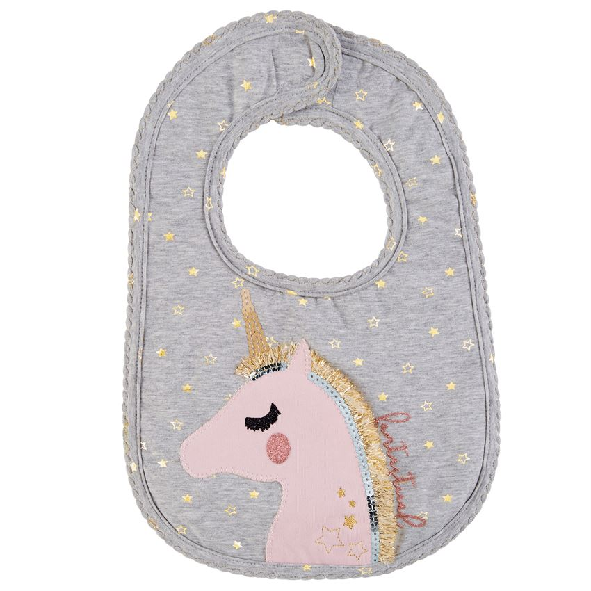 Mud Pie, MUD PIE BABY GIRL GLITTER BIB - James & Olive