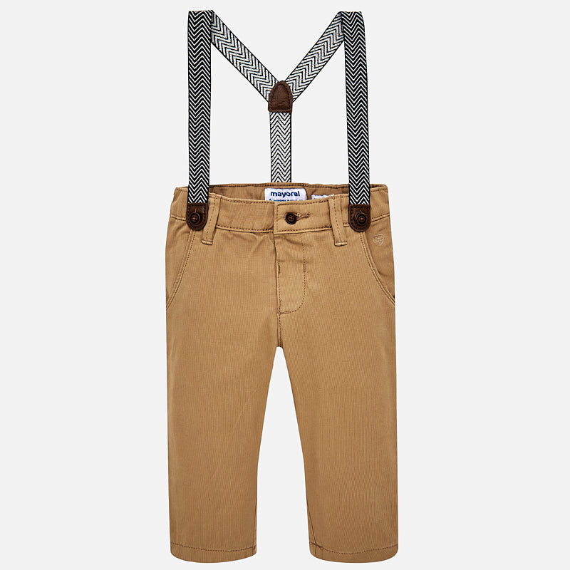 MAYORAL BABY BOYS CHINOS WITH SUSPENDERS
