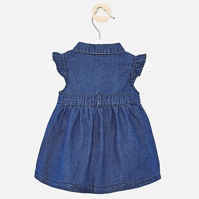 MAYORAL BABY GIRLS SHORT SLEEVED DENIM DRESS