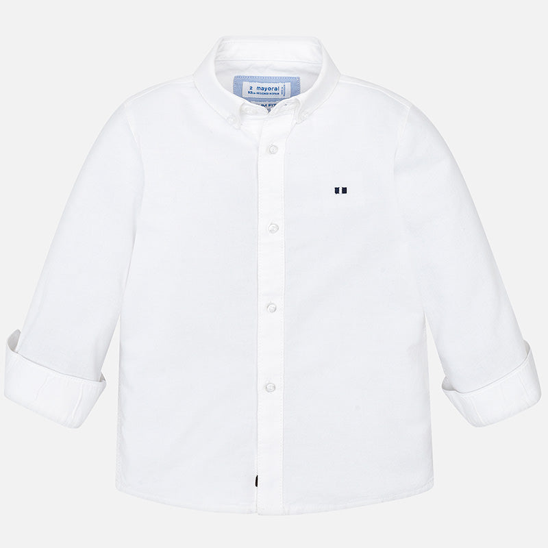 MAYORAL BOYS BASIC LONG SLEEVE OXFORD SHIRT