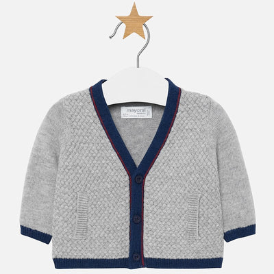 MAYORAL BABY BOYS V NECK CARDIGAN-FINAL SALE