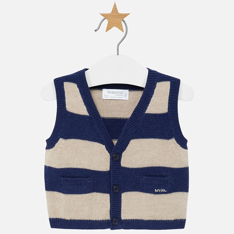 MAYORAL BABY BOY STRIPED KNIT VEST-FINAL SALE