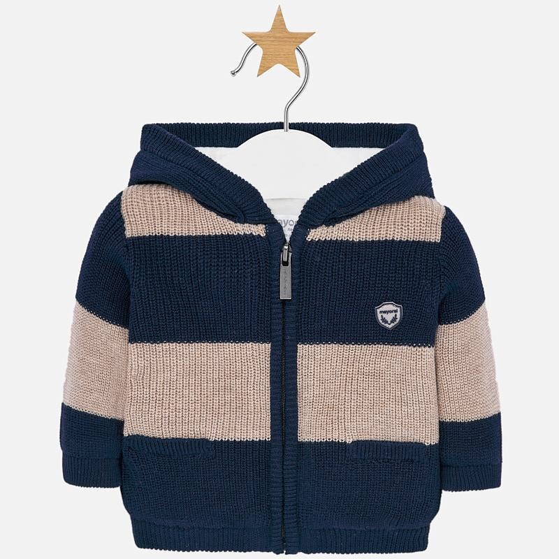 MAYORAL BABY BOY KNIT ZIP UP SWEATER-FINAL SALE