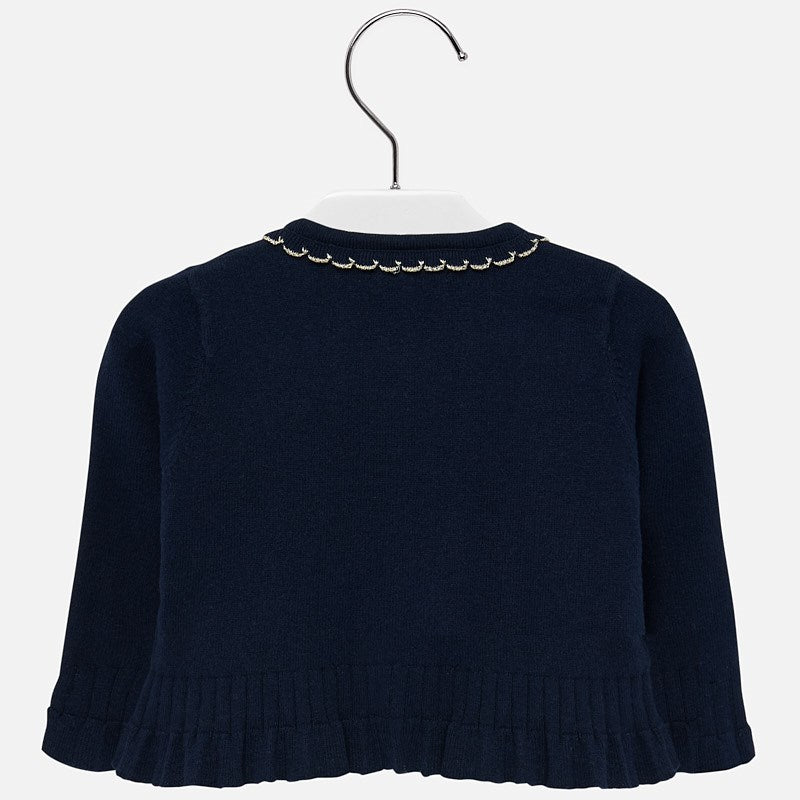 MAYORAL BABY GIRL SCALLOPED TRIM CARDIGAN