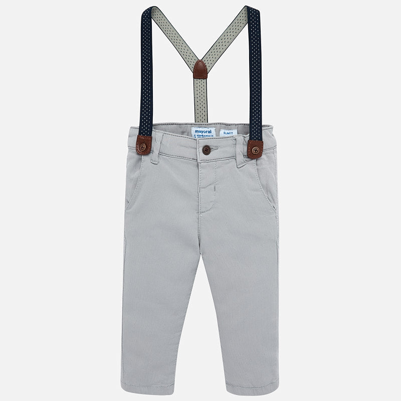 MAYORAL BABY BOY PANTS WITH SUSPENDERS-FINAL SALE
