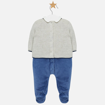 MAYORAL BABY BOY DRESSY ONESIE-FINAL SALE