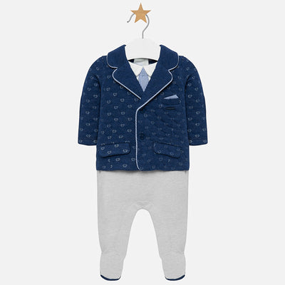 MAYORAL BABY BOYS ONESIE WITH JACKET-FINAL SALE