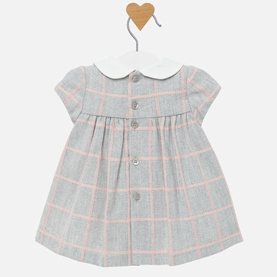 MAYORAL BABY GIRL PLAID DRESS-FINAL SALE