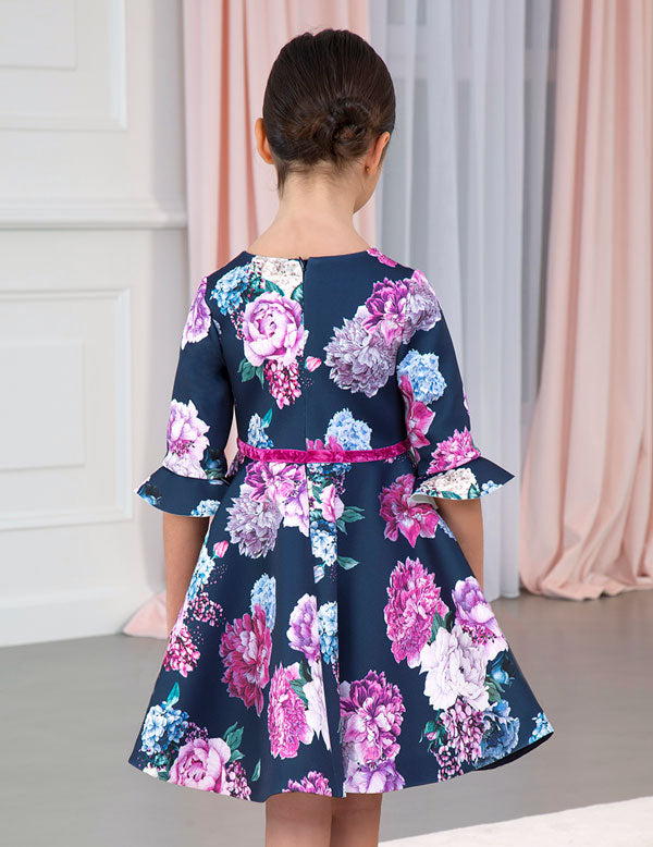 ABEL & LULA FLORAL NEOPRENE DRESS