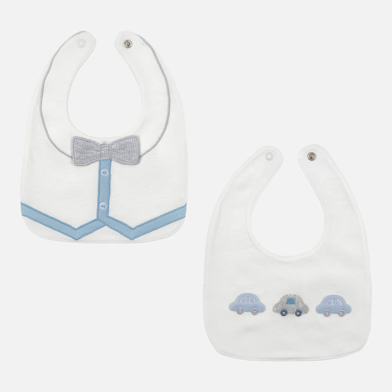 MAYORAL BABY BOY SET OF 2 BIBS-FINAL SALE