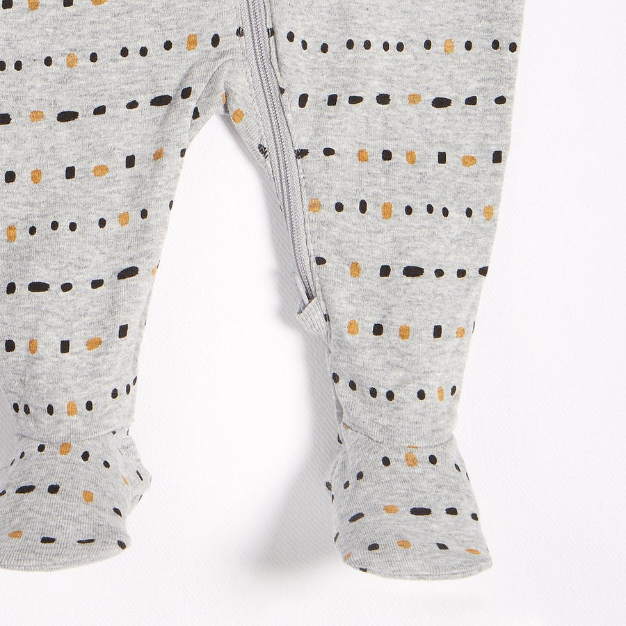 PETIT LEM BABY DOTTED LINES SLEEPER