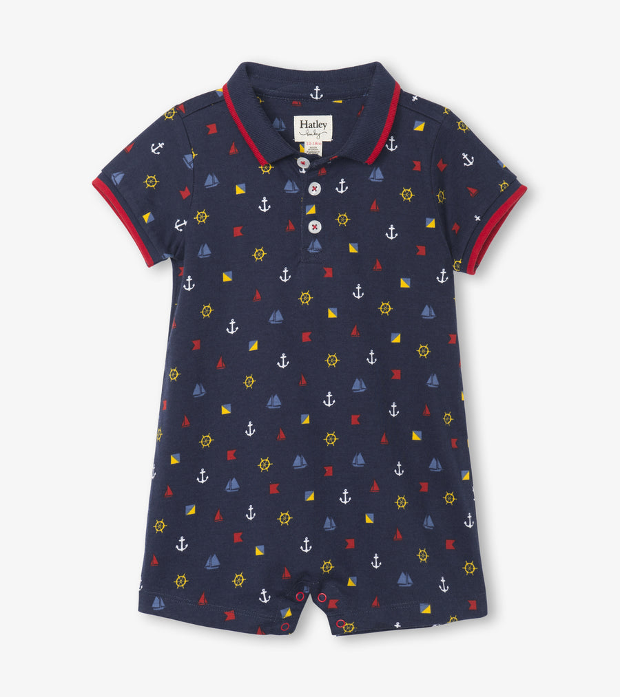 HATLEY BABY BOYS NAUTICAL ROMPER
