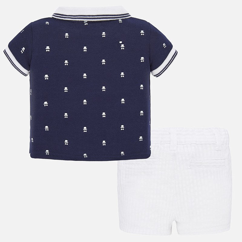 MAYORAL BABY BOY SHORT AND POLO SET