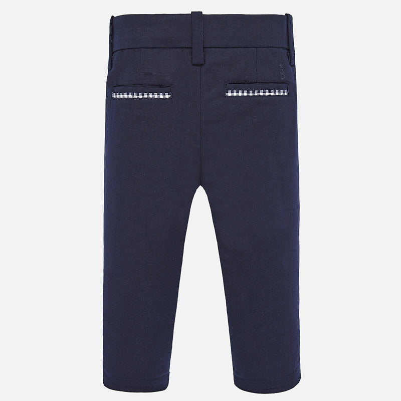 MAYORAL BABY BOY CHECKERED LINEN DRESS PANT
