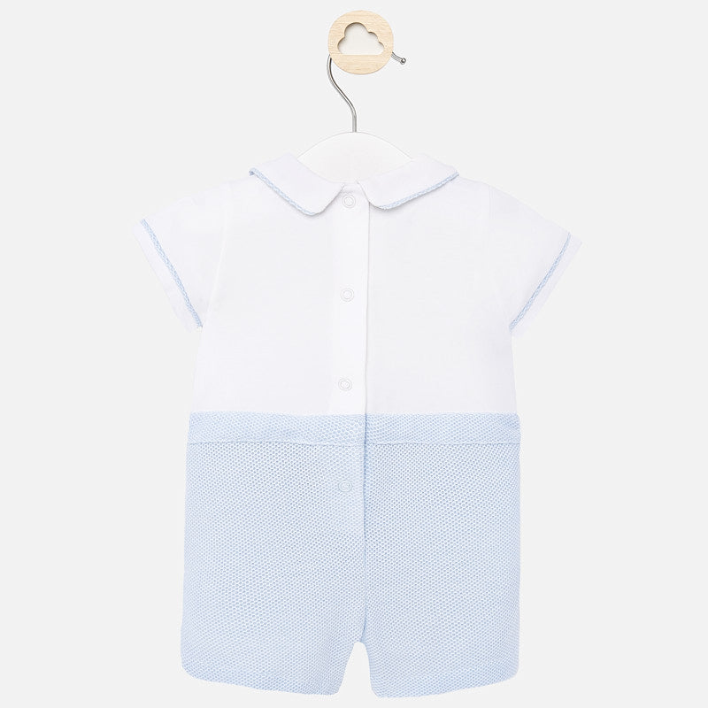 MAYORAL BABY BOY DRESSY SHORT ONESIE