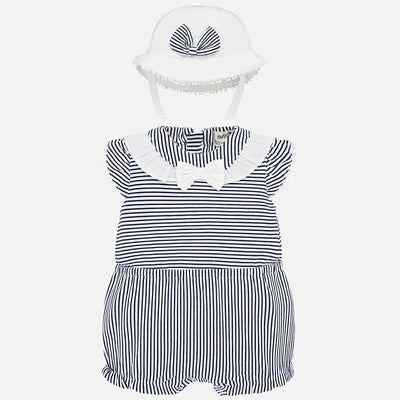 MAYORAL BABY GIRL ROMPER WITH HAT