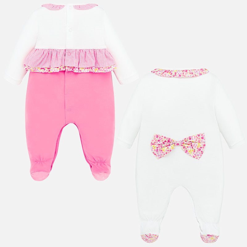 MAYORAL BABY GIRL FLOWER SLEEPER SET
