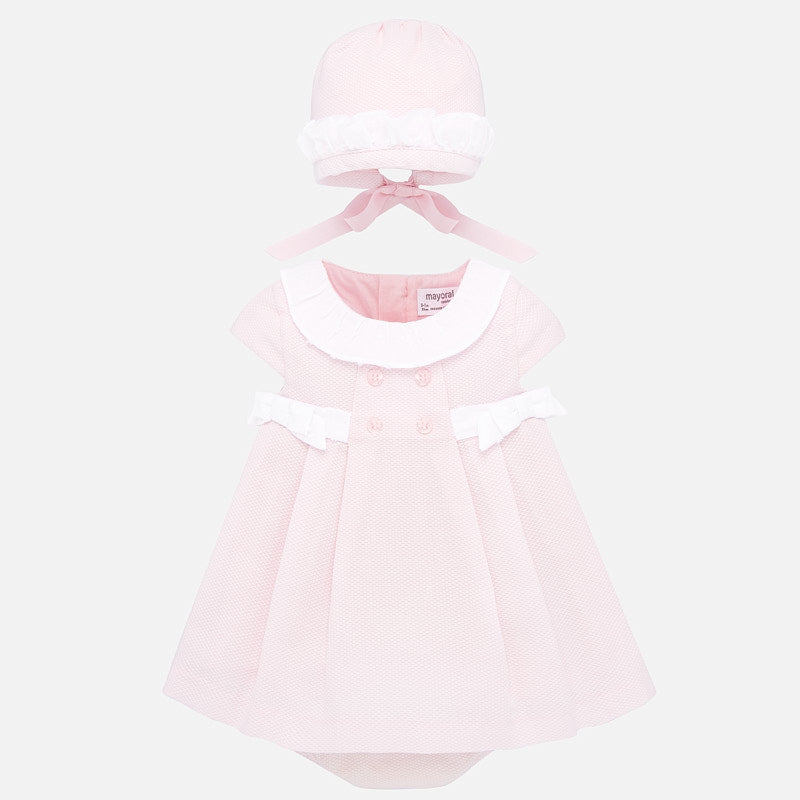 BABY GIRL DRESS WITH BONNET
