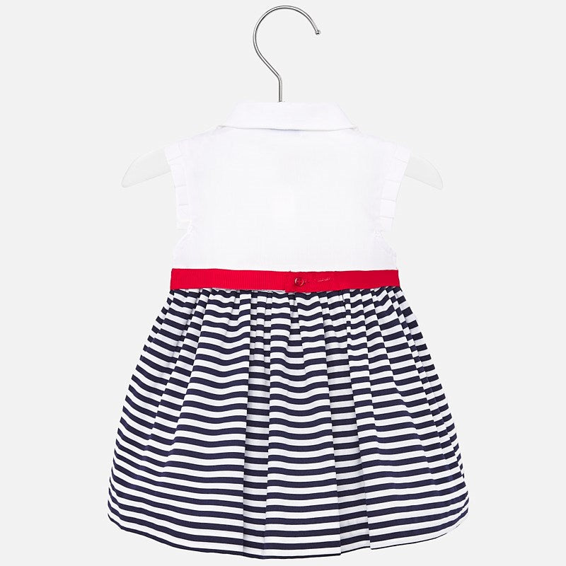 MAYORAL BABY GIRLS NAUTICAL STRIPED DRESS