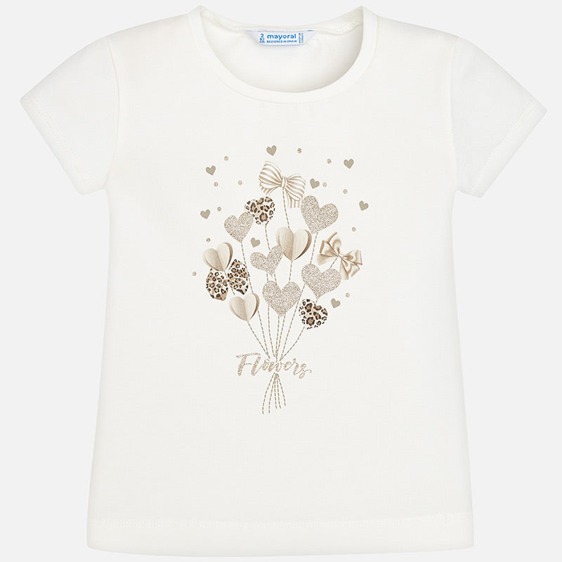 MAYORAL GIRLS BOUQUET OF HEARTS T-SHIRT