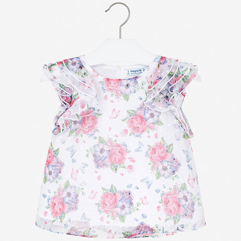 MAYORAL GIRLS CHIFFON FLORAL BLOUSE