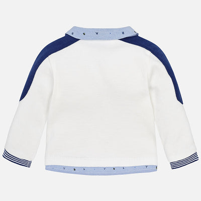 Mayoral, MAYORAL BABY BOYS LONG SLEEVE POLO - James & Olive