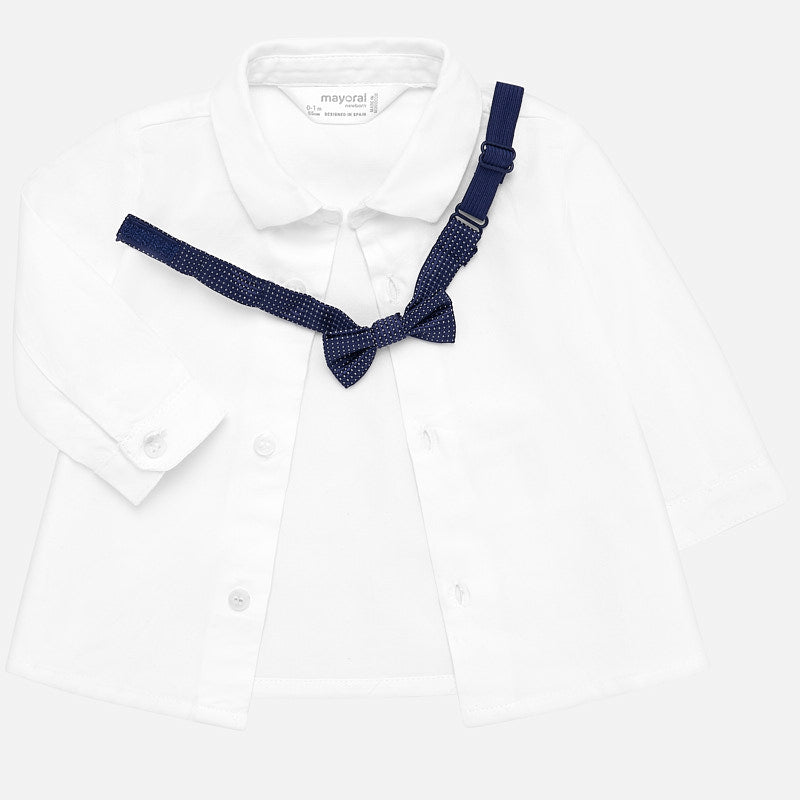 MAYORAL BABY BOY DRESS SHIRT WITH BOWTIE