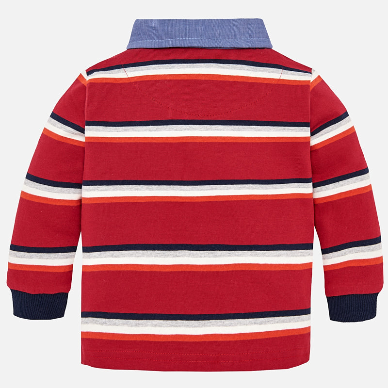 Mayoral, MAYORAL BABY BOYS STRIPED LONG SLEEVE POLO - James & Olive