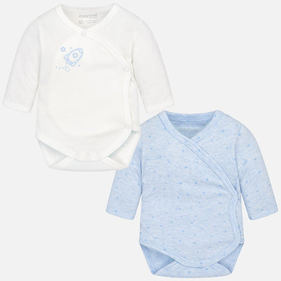 Mayoral, MAYORAL BABY BOYS 2 PACK OF LONG SLEEVE BODYSUITS - James & Olive