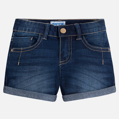 Mayoral, MAYORAL GIRLS DENIM SHORTS - James & Olive