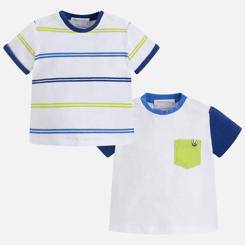 Mayoral, MAYORAL BABY BOYS SET OF 2 SHORT SLEEVE SHIRTS - James & Olive