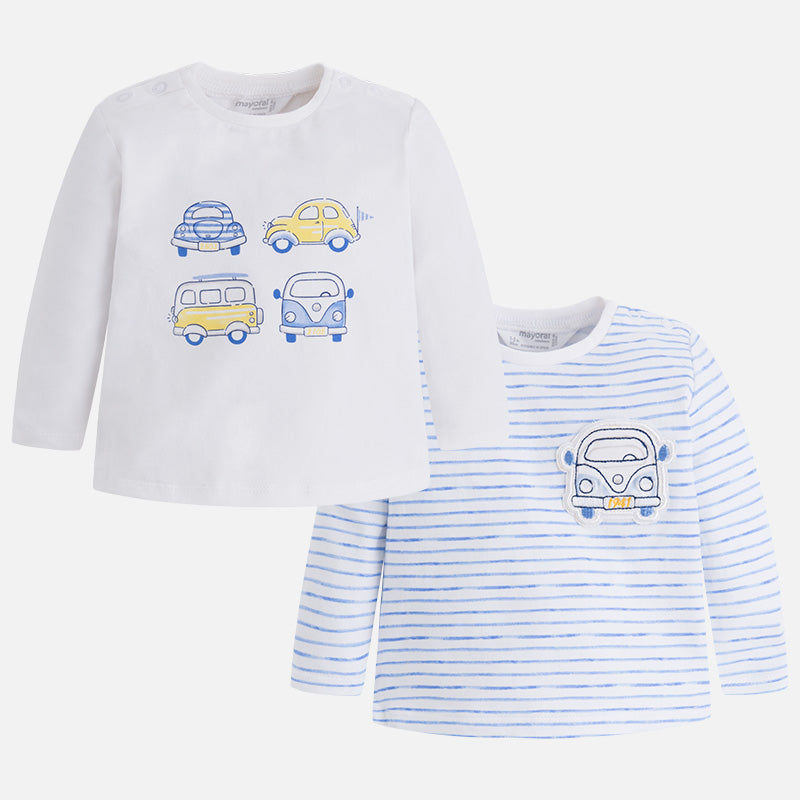 Mayoral, MAYORAL BABY BOYS SET OF 2 LONG SLEEVE SHIRTS - James & Olive