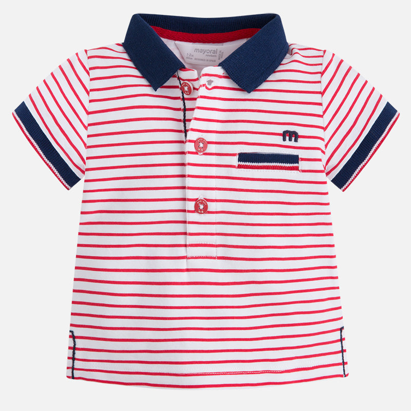 Mayoral, MAYORAL BABY BOYS SHORT SLEEVE STRIPED POLO - James & Olive