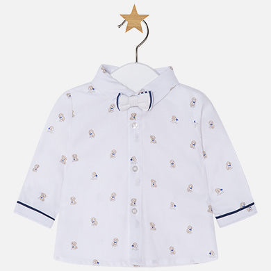 Mayoral, MAYORAL BABY BOY LONG SLEEVE SHIRT WITH BOW TIE - James & Olive