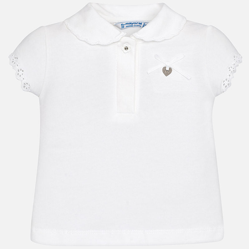 Mayoral, MAYORAL BABY GIRLS SHORT SLEEVE POLO - James & Olive