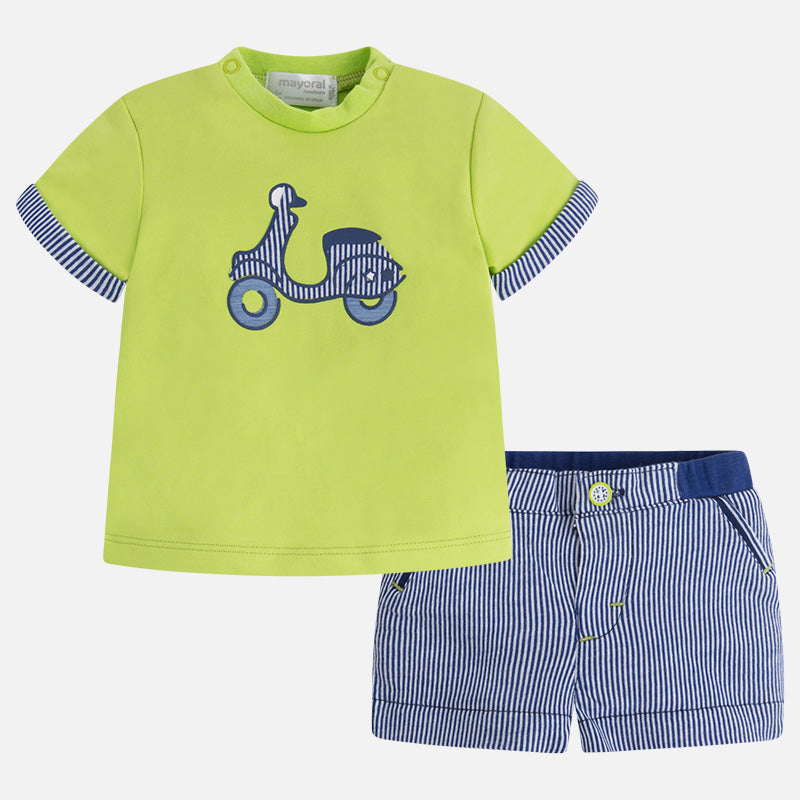 Mayoral, MAYORAL BABY BOYS KNIT SHORT SET - James & Olive