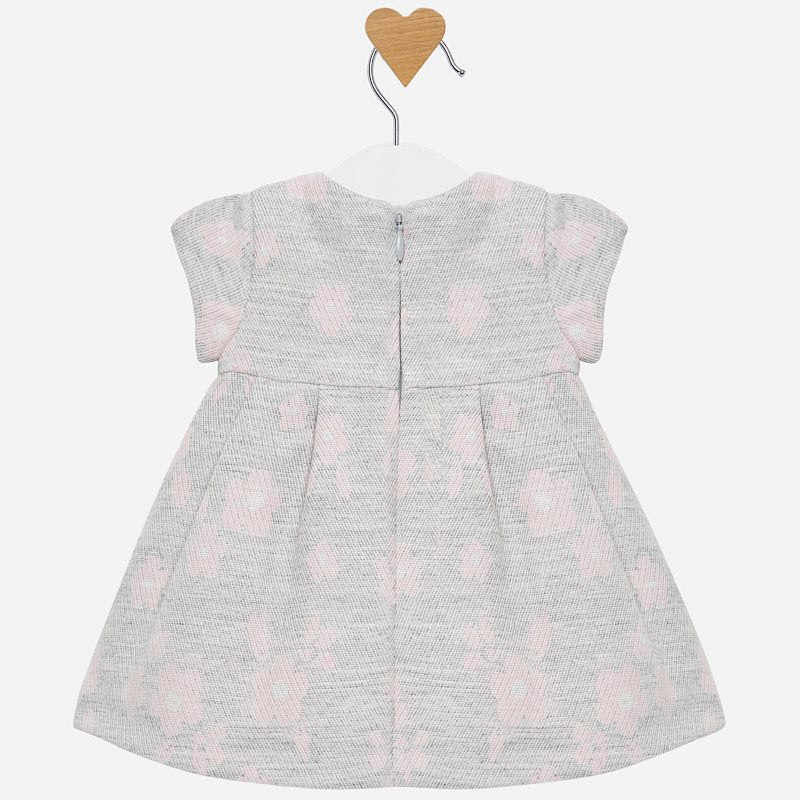MAYORAL BABY GIRL JACQUARD FLOWER DRESS-FINAL SALE