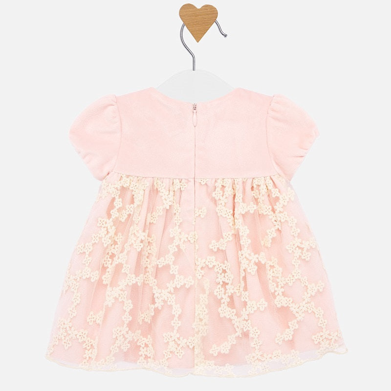 MAYORAL BABY GIRL VELVET TOP DRESS-FINAL SALE