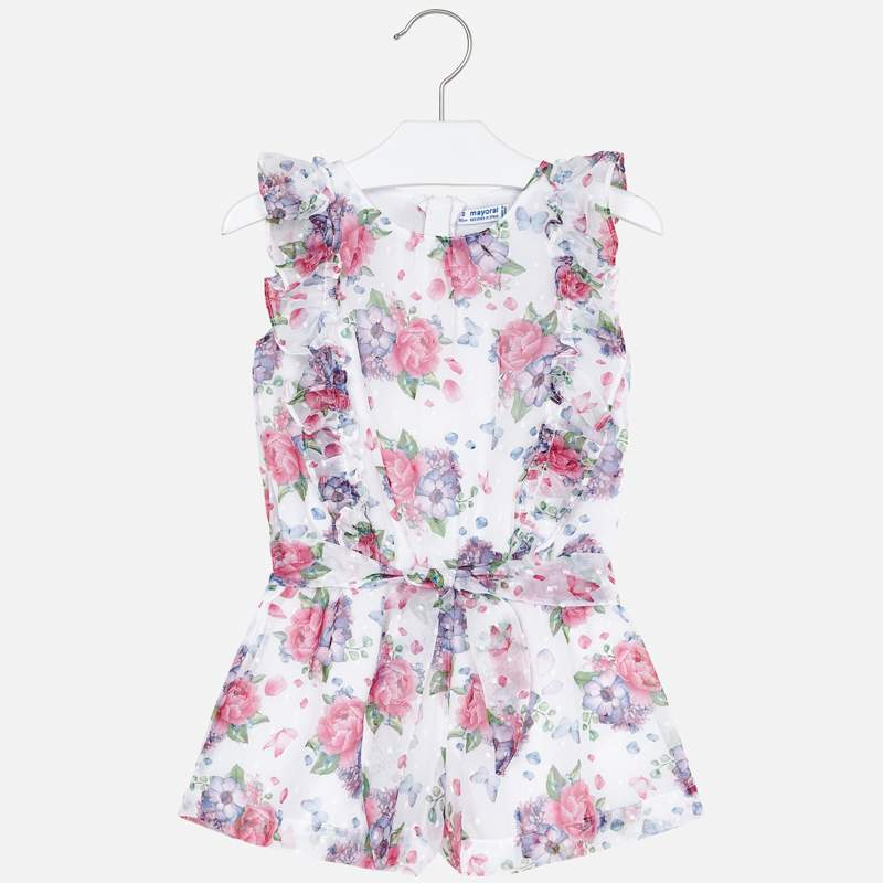 MAYORAL GIRLS FLOWER JUMPSUIT