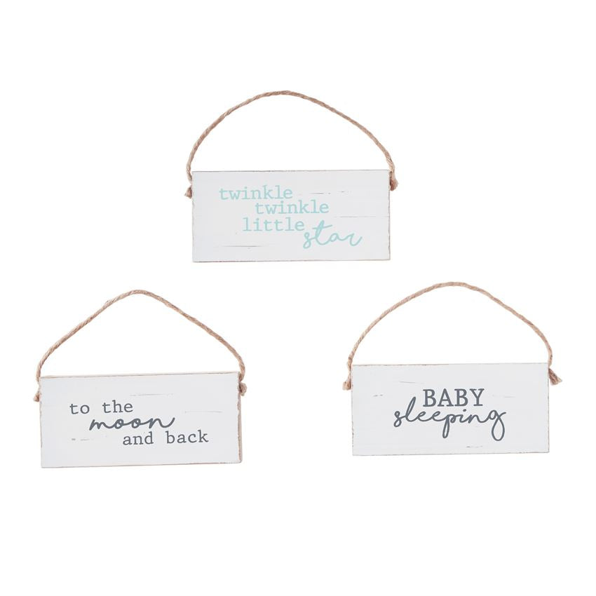 Mud Pie, MUD PIE WOOD DOOR HANGERS - James & Olive