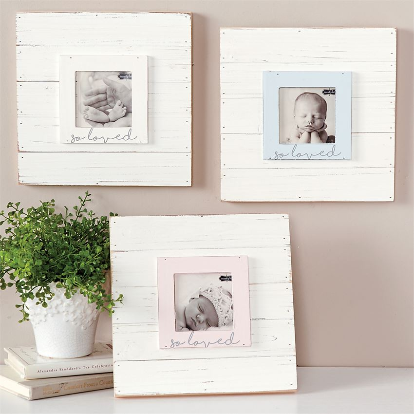 "Mud Pie, MUD PIE ""SO LOVED"" FRAME - James & Olive"