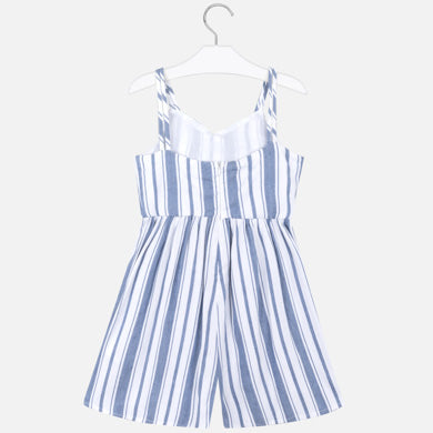 MAYORAL TWEEN STRIPED LINEN JUMPSUIT