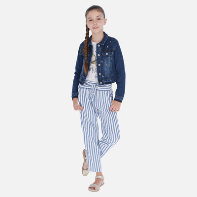 MAYORAL TWEEN LINEN STRIPED PANTS